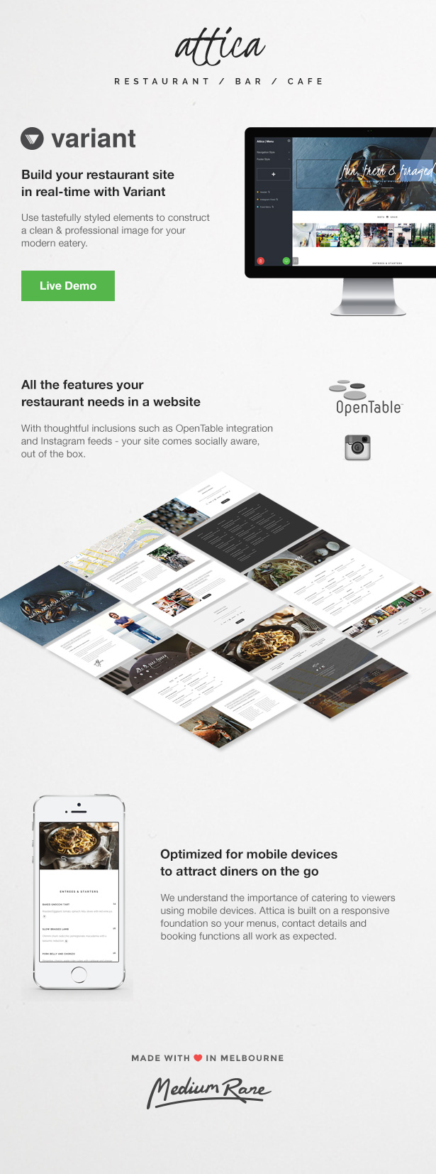 Attica - Restaurant Template with Page Builder